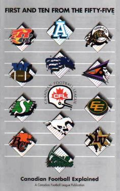 Canadian Football League with 13 teams (including American expansion). Football Icon, Football Love, Vintage Football, Football Cards, Football Helmets, Canadian Football League, American Football League, Go Rider, Fantasy Football Game
