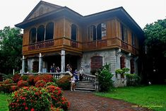 """Balay Negrense in Silay, Negros Occidental. During the Spanish colonial period, the traditional Filipino """"Bahay na bato"""" architectural style for large houses emerged. These were large houses built of Filipino Architecture, Philippine Architecture, Cultural Architecture, Architecture Old, Spanish House, Spanish Colonial, Style At Home, Dream House Plans, My Dream Home"""