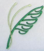 Easter Palm Embroidery Design.