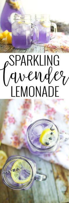Sparkling Lavender Lemonade | lemonade recipes | homemade lemonade recipe | how to make homemade lemonade | lavender flavored recipes | recipes using lavender | summer drink recipes | refreshing drink recipes | homemade drink recipes | family friendly drink recipes | non-alcoholic drink recipes || Oh So Delicioso
