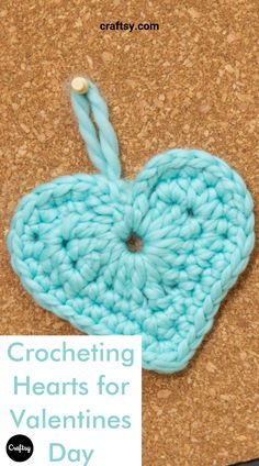 Chocolate isn't the only way to show someone you care this Valentine's Day . Stitch up a bunch of crochet hearts — you can make 'em using scrap yarn — and attach them to whatever gift your loved one would like best. Free Heart Crochet Pattern, Easy Crochet Patterns, Crochet Motif, Crochet Flowers, Crochet Stitches, Free Pattern, Crochet Hearts, Crochet Ideas, Treble Crochet Stitch