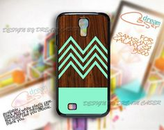 Cool Chevron Wood - Print On Hard Case Samsung Galaxy S4 i9500