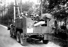 Camión Krupp Protze Kfz. 70, vista trasera.