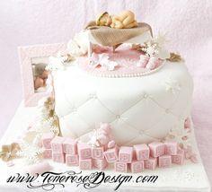 marsipan dåpskake - Google-søk Cupcakes, Baby Shower Cakes, Christening, Fondant, Birthday Cake, Babies, Inspiration, Food Cakes, Cakes Baby Showers