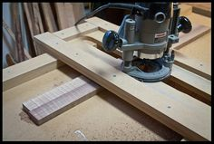 thickness planing with a router and planing jig