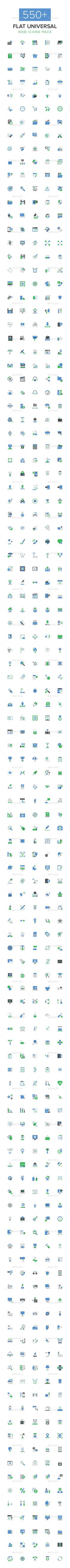 550+ Flat Universal Web Icons Pack #design Download: http://graphicriver.net/item/550-flat-universal-web-icons-pack/14296929?ref=ksioks