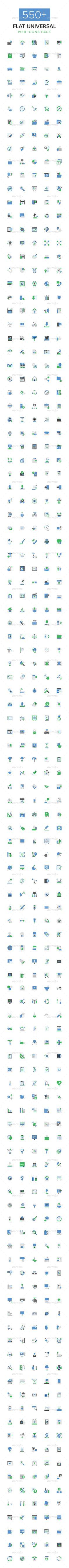 550+ Flat Universal Web Icons Pack #design Download: http://graphicriver.net/item/550-flat-universal-web-icons-pack/14296929?ref=ksioks
