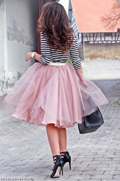 Tulle + stripes