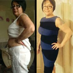 """Janey - """"Only 3 months between the pictures  See full article at https://www.facebook.com/TakinItOffAndGettingHealthy  #skinnyfiber #diet #loseweight #health #healthy #weightloss #fitness #motivation"""