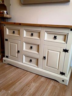 Painted Wood Bedroom Furniture Mexican Pine Painted Sideboard Painted Using Chalk Paint Painting Pine Furniture, Pine Bedroom Furniture, Bedroom Furniture Makeover, Painted Furniture, Bedroom Ideas, Refurbished Furniture, Painted Wood, Bedroom Designs, Painted Sideboard