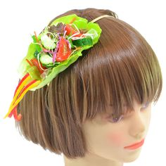 Love the translation as much as the item! Fake food headband from Japan: ■ Product name: fluttering of paprika salad Katyusha  ■ Price: 6,500 yen (including tax)  ■ Size   Headband: width 4mm   potato salad: width 22cm × depth 7cm × height 5.5cm   ■ Hirahira to is the headband of paprika salad headband is piled in such a way was fluttering in the wind. Lettuce also fluttering, has a realistic shape. Shredded green cabbage, purple cabbage, carrot, cucumber, such as lettuce have been used a…