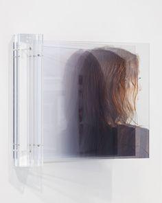Ger van Elk. Portrait – As is, as was (C-print RA 4 on duraclear film between plexiglas; plexiglas suspension: 44 x 45 x 24 cm). 2012. (via Grimm Gallery, Amsterdam)