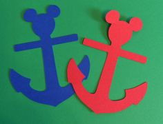 I want to buy these can attach to centerpieces or gift bags. 30 4 Mickey Anchor Nautical DieCuts/Cutouts by LeslisDesigns, $7.50