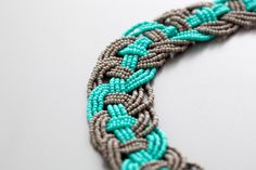 Make This Woven Bead Statement Necklace for Under $15! via Brit + Co.