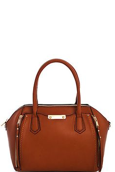The Fall Satchel in Cognac – Sweater Weather Co.