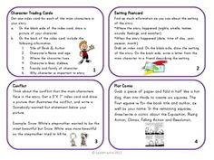 Story Elements Activity Cards $3.50