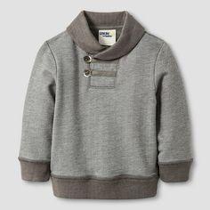 Baby Boys' Shawl Collar Pullover - Radiant Gray 12M - Genuine Kids™ from Oshkosh® : Target