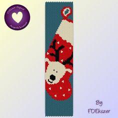 Peyote Pattern / Loom pattern for bracelet: Reindeer Blitzen - PDF - buy 2 get 1 free mix and match offer - bp284. $6.50, via Etsy.