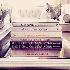 I want a few fashion books! I have several awesome art books & now I want a few fashion books too 5' Coffee Table, Coffee Table Styling, Decorating Coffee Tables, Just Girly Things, Girly Stuff, Lovely Things, My New Room, Fashion Books, Room Inspiration