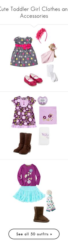 """Cute Toddler Girl Clothes and Accessories"" by my-creative-mess ❤ liked on Polyvore featuring Bebe, Monsoon, Carter's, Nordstrom, Bearpaw, Old Navy, UGG Australia, The First Years, Gymboree and Keen Footwear"
