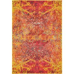 Contemporary Unique Loom Turkish Barcelona Rug Red/ / Off-White/ Brown