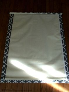 DIY Fabric Roller Shade                                                                                                                                                      More