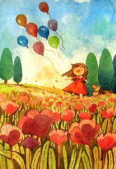 Recuerdos .de infancia ....colores ..sonrisas de mi padre . Ya..!!!!.olvide lo demás ...