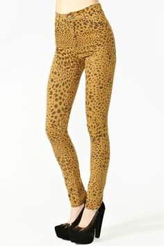 Second Skin Jeans in Leopard