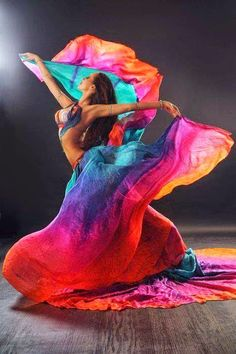 Dancing...awesome colour and movement:)