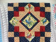 Birds runner: I love the look of fussy cut quilts and hangings, so I gave it a shot and enjoy the out come every time
