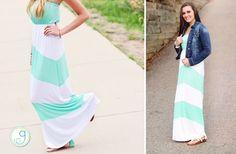 GroopDealz | Strapless Chevron Maxi Dress - 2 Colors!