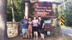Entrance to Beaver's Bend-been going here with my family since before I could remember it. 2014 Kenneth, Kaleigh, me, and Nick Beavers Bend State Park, State Parks, Beaver Bend, Family Vacations, My Family, Entrance, Dads, Parents, Entryway