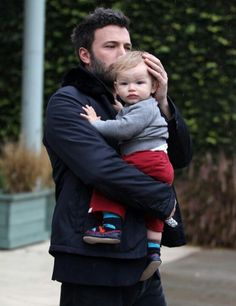 Ben Affleck with his and wife Jennifer Gardner's son Samuel