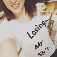 This is the lovely showing off her new tee from us! 🙌💕 We all lose our sh*t sometimes mama or no, so let's own it! Cool Slogans, Slogan Tshirt, Brand Store, Pink Fashion, Tshirts Online, Pretty In Pink, Let It Be, T Shirts For Women, Tees