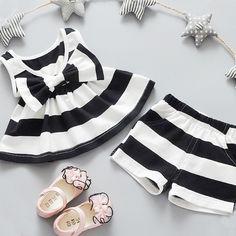 Nice Nice kids designer brand kids Toddler Kids Baby Girls Summer Outfits Clothes Dress+Short 2PCS Set ropa de ninas - $17.61 - Buy it Now!