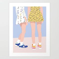 Design your everyday with art prints you'll love. Cover your walls with artwork and trending designs from independent artists worldwide. Art And Illustration, Illustration Inspiration, Illustrations And Posters, Graphic Design Illustration, Cool Art Drawings, Arte Pop, Design Art, Pop Art, Instagram Bio