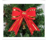 2016 Hot 3 ks / set vianočný strom dekorácie, červené veľké bowknot ozdoby, nový rok dekorácie