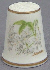 Royal Grafton Thimble - Flowers of the Poets Collection - Jasmine