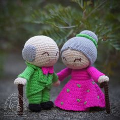 Alice & Michael Old Wedding Couple Amigurumi por saplanetamigurumi