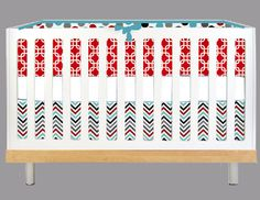Favorite crib bedding to date.  @Debbie Mays  Do you think we could find these materials?