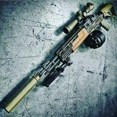 Drum mag on a sniper! Expert recon! #gunlivesmatter #ammo #girlswithguns #badass #donttreadonme #tactical #tacticalgear #guns #highcaliber #shooting #gear #