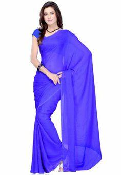 Fabdeal Indian Women Sari Designer Wear Plain Blue Fabdeal,http://www.amazon.com/dp/B00GMJDSKM/ref=cm_sw_r_pi_dp_zptptb0ZW4AVH2AM