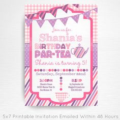 Tea Party Printable