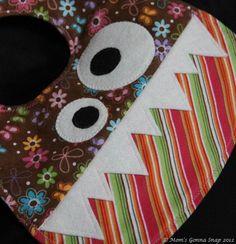 Monster Bibs http://www.etsy.com/transaction/120441087 http://momsgonnasnap.blogspot.com/2012/10/baby-bibs-handmade-gift.html
