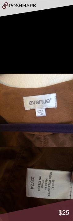 Avenue Blazer Avenue suedette blazer- EUC. Size 22/24. Avenue Jackets & Coats Blazers