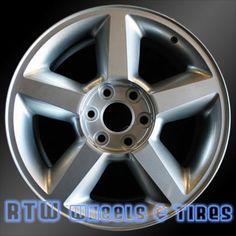 """Chevy Avalanche wheels for sale 2007-2008. 20"""" Silver rims 5308 - http://www.rtwwheels.com/store/?post_type=product&p=33056"""