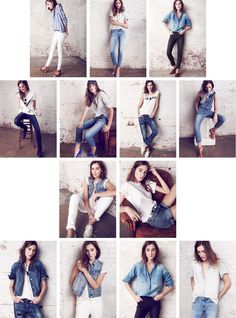 Photography Poses : The Denim Bar : Denim Jeans, Jackets, & Chambray for Women - poses - Photographie Pose Portrait, Portrait Photography Poses, Fashion Photography Poses, Fashion Poses, Photography Women, Photography Classes, Film Photography, Wedding Photography, Girl Photo Poses
