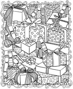 free printable christmas coloring pages for adults - Free Printable Christmas Coloring Pages For Adults