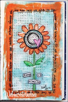 Original pinner sez: My happy place - webmosterhelene, that's me: Art journal / mixed media