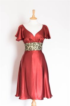 Size 12 Antique Rose Dress with Butterfly Sleeves
